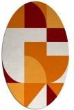 rug #1183915 | oval orange retro rug