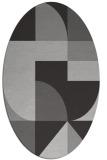 rug #1183923   oval orange popular rug
