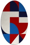 rug #1183959 | oval red abstract rug