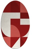 rug #1183967 | oval red retro rug