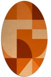 rug #1183979 | oval red-orange abstract rug
