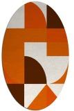 rug #1183987 | oval red-orange circles rug