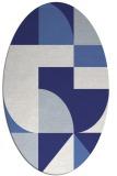 rug #1184000 | oval retro rug