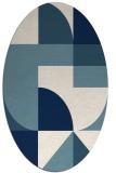 rug #1184011 | oval white circles rug