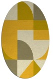 rug #1184019 | oval yellow circles rug