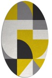 rug #1184027 | oval yellow graphic rug