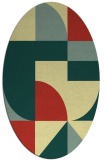 rug #1184035 | oval blue-green circles rug