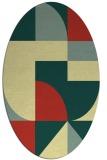 rug #1184036 | oval circles rug