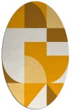 rug #1184055 | oval light-orange abstract rug