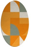 rug #1184063 | oval light-orange graphic rug