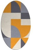 rug #1184067 | oval light-orange retro rug
