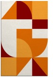 rug #1184283 |  orange graphic rug