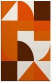 rug #1184355 |  red-orange circles rug