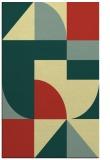 rug #1184403 |  blue-green geometry rug