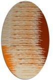 rug #1185543 | oval beige abstract rug