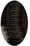 rug #1185555 | oval beige abstract rug