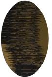 rug #1185563 | oval mid-brown stripes rug