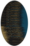 rug #1185571 | oval mid-brown stripes rug