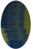 rug #1185587 | oval blue abstract rug