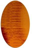 rug #1185751 | oval red-orange stripes rug