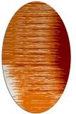 rug #1185755 | oval orange stripes rug
