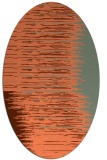 rug #1185763 | oval red-orange stripes rug