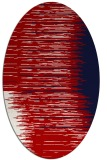 rug #1185799 | oval red stripes rug