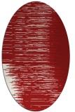 rug #1185807 | oval red stripes rug