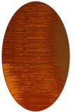 rug #1185815 | oval red-orange stripes rug