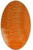 rug #1185819 | oval red-orange stripes rug
