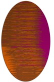 rug #1185823 | oval red-orange stripes rug