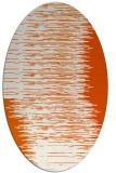 rug #1185827 | oval red-orange rug