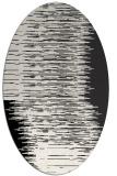 rug #1185831 | oval white abstract rug