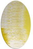 rug #1185835 | oval white stripes rug