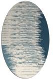 rug #1185851 | oval white stripes rug
