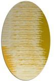 rug #1185859   oval yellow stripes rug