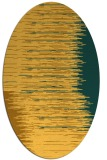 rug #1185871 | oval yellow abstract rug