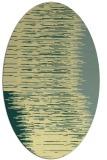 rug #1185875 | oval yellow stripes rug