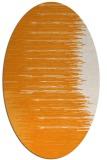 rug #1185903 | oval light-orange stripes rug