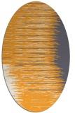 rug #1185907 | oval white stripes rug