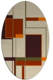 rug #1187383 | oval beige geometry rug