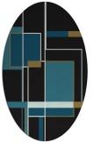 rug #1187411   oval black graphic rug