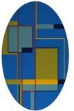 rug #1187415 | oval blue abstract rug
