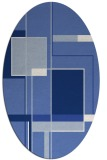 rug #1187431 | oval blue graphic rug