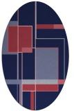 rug #1187475 | oval pink geometry rug