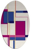 rug #1187485 | oval graphic rug