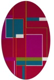 rug #1187499 | oval red abstract rug