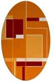 rug #1187595 | oval orange graphic rug