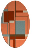 rug #1187599 | oval orange graphic rug