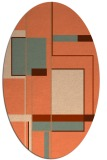 rug #1187603 | oval red-orange abstract rug